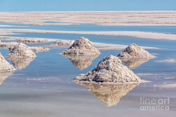 Wall Art - Photograph - Piles Of Salt In Salar De Uyuni by Delphimages Photo Creations