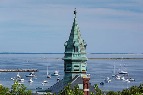 Provincetown Harbor Photograph - Pilgrim Monument, Elevated View Of Town by Danita Delimont