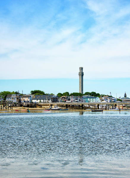 Wall Art - Photograph - Pilgrim Monument Over Provincetown Harbor - Massachusetts by Brendan Reals