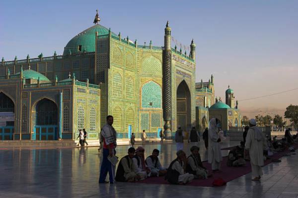 Pilgrimage Wall Art - Photograph - Pilgrims At The Shrine Of Hazrat Ali by Jane Sweeney