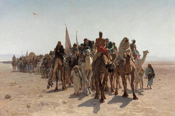 Pilgrimage Painting - Pilgrims Going To Mecca, 1861 by Leon Belly