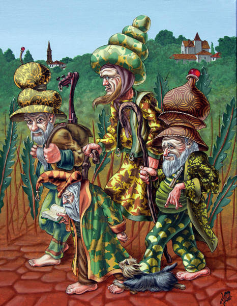 Painting - Pilgrims Of High Grass by Victor Molev