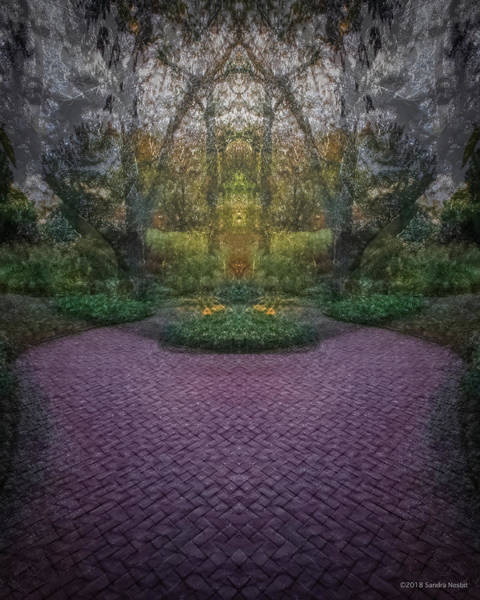 Multiple Exposure Digital Art - Pilgrim's Portal by Sandra Nesbit