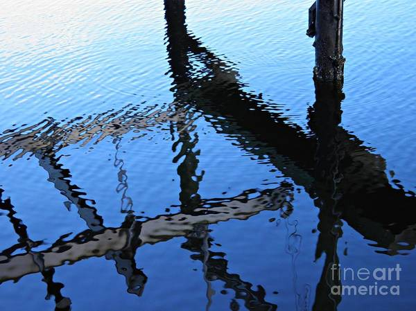 Wall Art - Photograph - Pilings And Reflections 2  by Sarah Loft