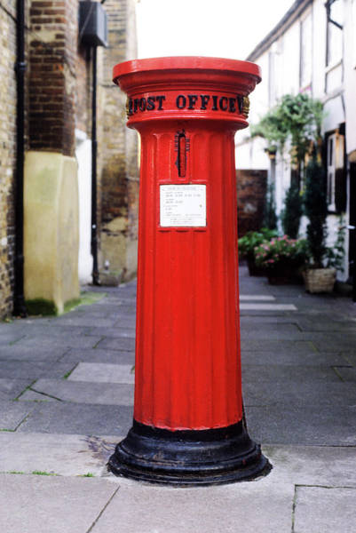 Mailbox Photograph - Pillar Post Box, 19th Century Early by Neil Holmes