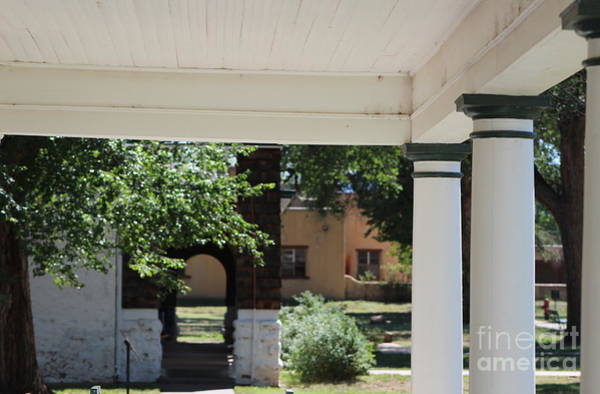 Photograph - Pillars Of Officers Quarters And Arched Passage At Fort Stanton New Mexico by Colleen Cornelius