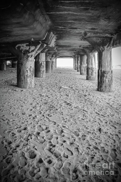 Wall Art - Photograph - Pillars Under Convention Hall - Black And White by Colleen Kammerer