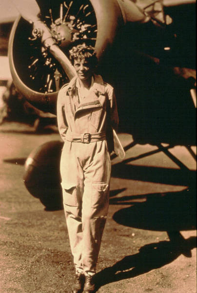 Heroine Photograph - Pilot Amelia Earhart by Getty Images