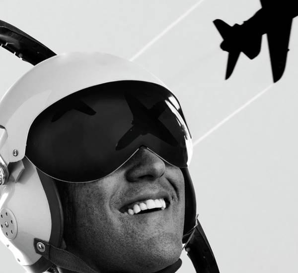 Wall Art - Photograph - Pilot Helmet by Lockiecurrie