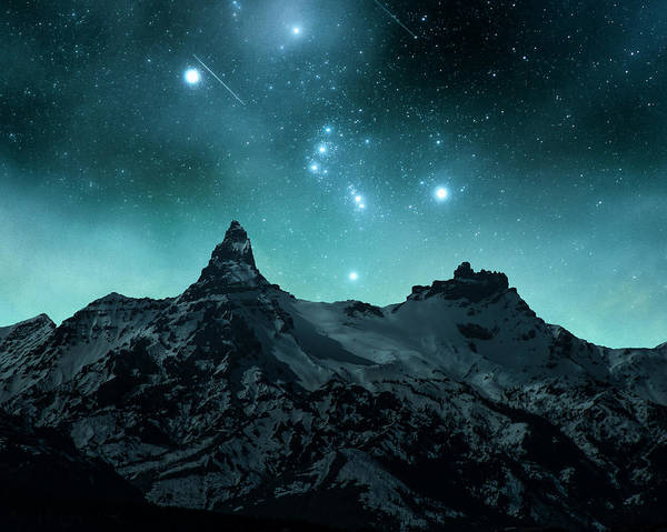 Photograph - Pilot Peak Orion  by Roy Nelson
