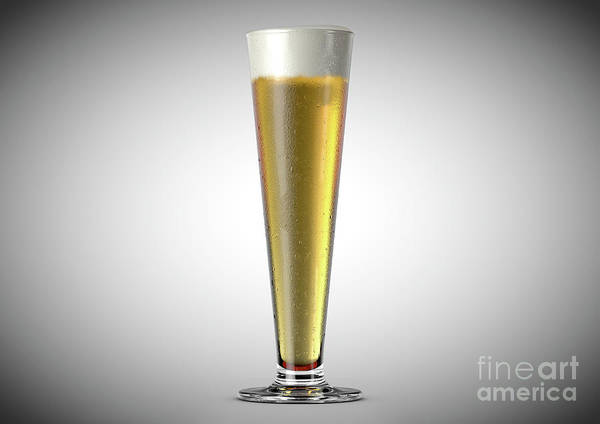 Draught Digital Art - Pilsner Beer Pint by Allan Swart