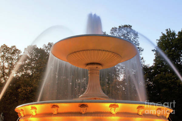 Wall Art - Photograph - Pilsudski Sqaure Fountain by Tom Gowanlock