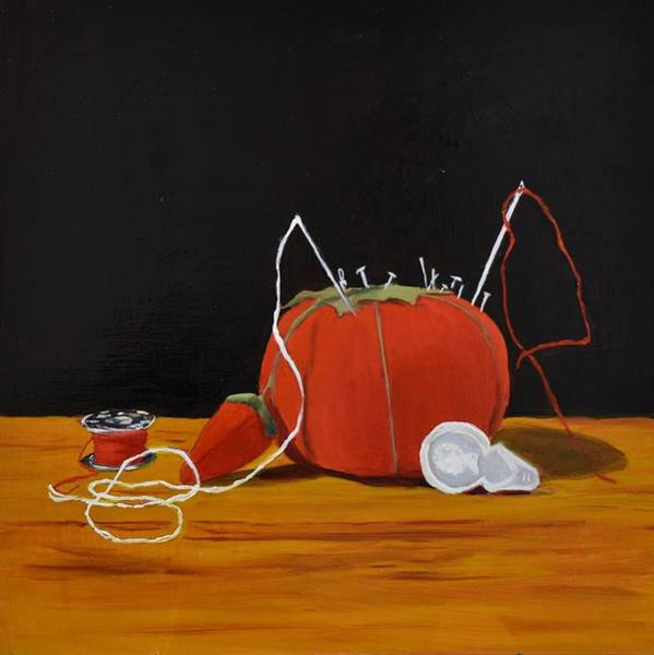 Painting - Pin Cushion by Emily Warren