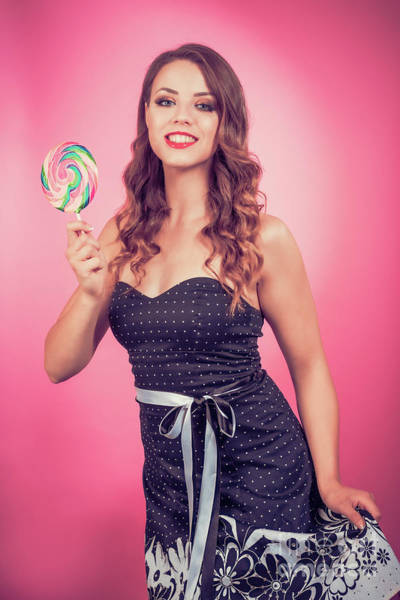 Wall Art - Photograph - Pin Up Candy Girl by Amanda Elwell