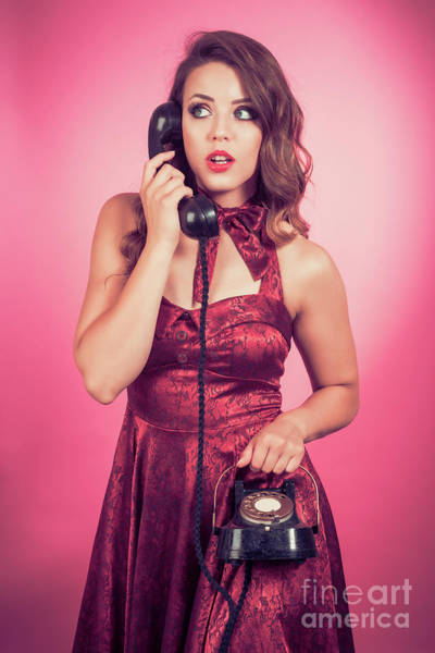 Wall Art - Photograph - Pin Up Vintage Telephone by Amanda Elwell