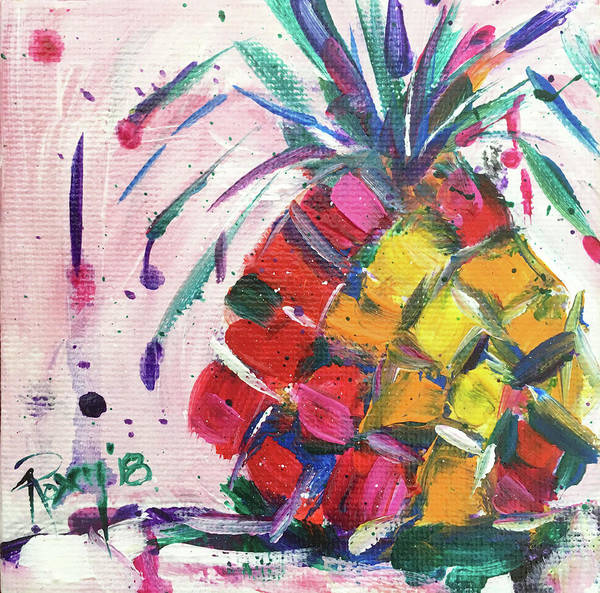 Still Life Painting - Pina Colada Pineapple by Roxy Rich