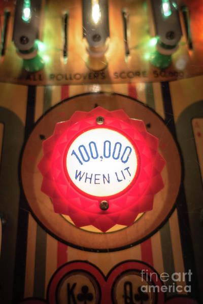 Photograph - Pinball 100000 When Lit by Edward Fielding