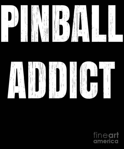 Pinball Digital Art - Pinball Machine Gift For Pinball Players And Arcade Gamers by Martin Hicks