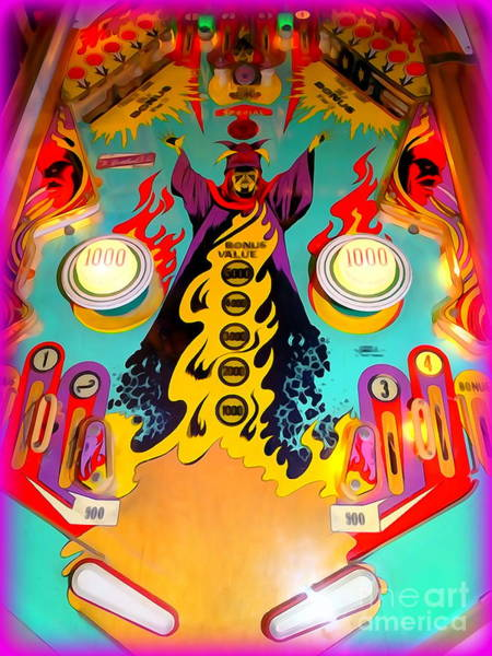 Pinball Digital Art - Pinball Passion by Ed Weidman