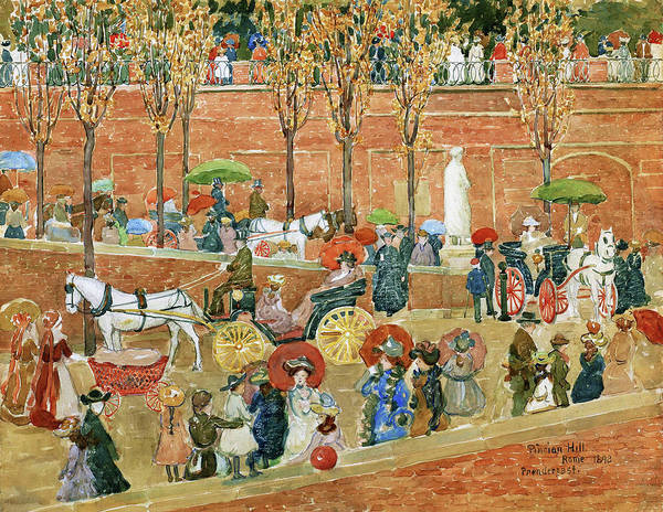 Wall Art - Painting - Pincian Hill, Rome - Digital Remastered Edition by Maurice Brazil Prendergast