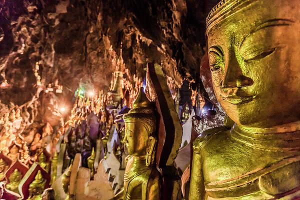 Pilgrimage Wall Art - Photograph - Pindaya Caves, Pindaya, Shan State by Cultura Rm Exclusive/gary Latham