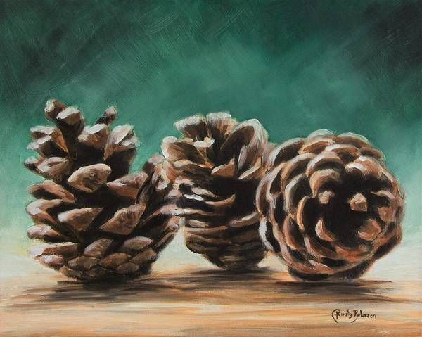 Pine Cones Painting - Pine Cones by Kirsty Rebecca