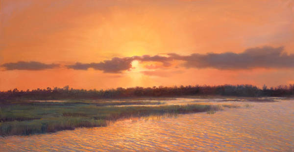 Lake Okeechobee Wall Art - Painting - Pine Glades Sunset by Laurie Snow Hein