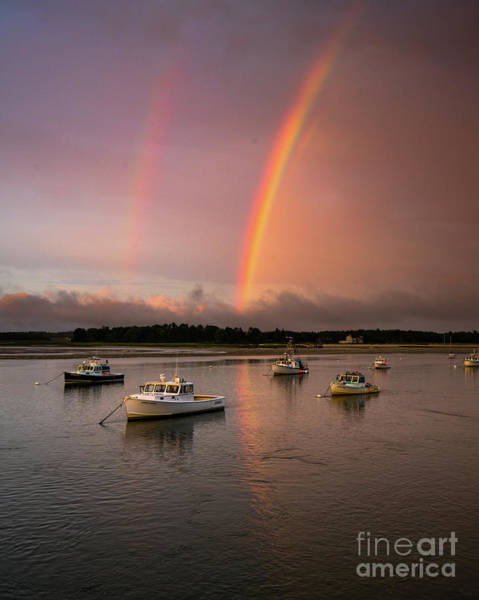 Lobstering Photograph - Pine Point Rainbow by Benjamin Williamson