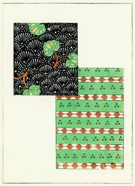 Wall Art - Painting - Pine Tree Japanese Traditional Pattern Design by Watanabe Seitei