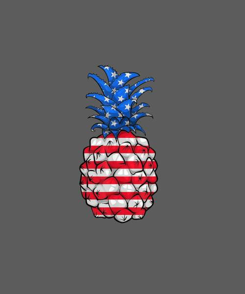 Wall Art - Digital Art - Pineapple American Flag 4th Of July Shirt Fourth Of July Tee by Unique Tees