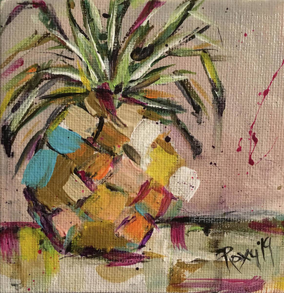 Still Life Painting - Pineapple Heaven by Roxy Rich