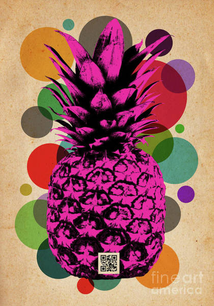 Pineapples Digital Art - Pineapple On Vintage Paper 02 by Bobbi Freelance