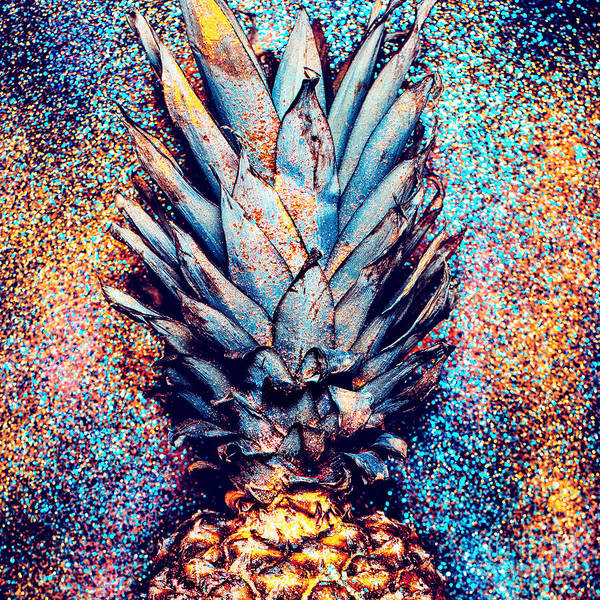 Freshness Wall Art - Photograph - Pineapple Shine Fashion Minimalism by Evgeniya Porechenskaya