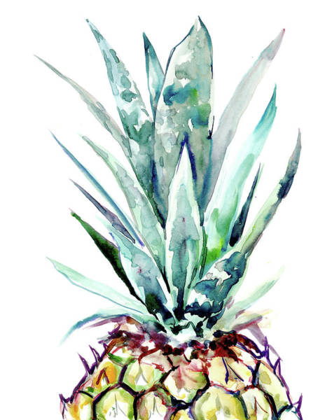 Wall Art - Painting - Pineapple by Suren Nersisyan