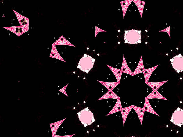 Digital Art - Pink And Black Abstract 16 by Artist Dot