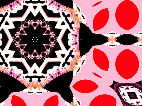 Digital Art - Pink And Black Abstract 3 by Artist Dot
