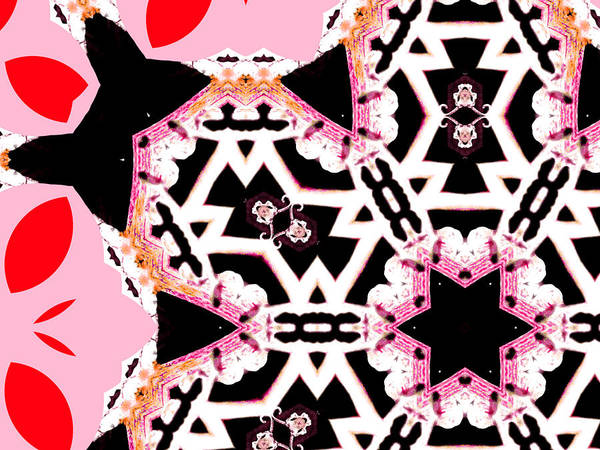 Digital Art - Pink And Black Abstract 4 by Artist Dot