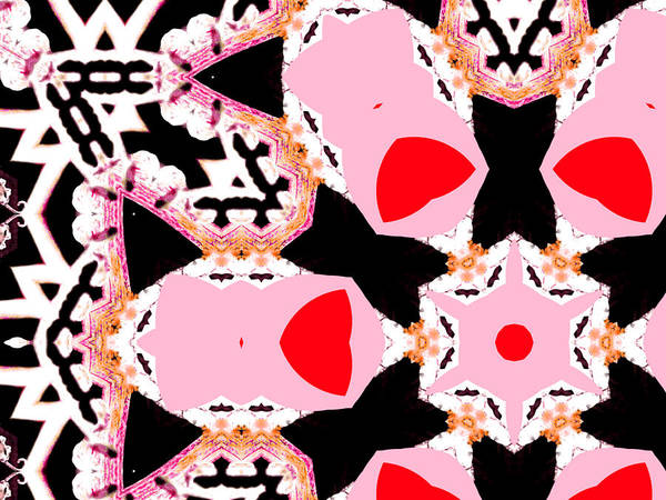 Digital Art - Pink And Black Abstract 5 by Artist Dot