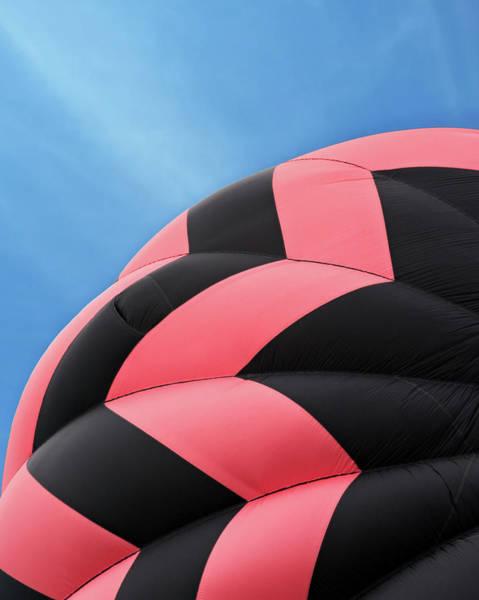 Photograph - Pink And Black Hot Air Balloon by Juj Winn