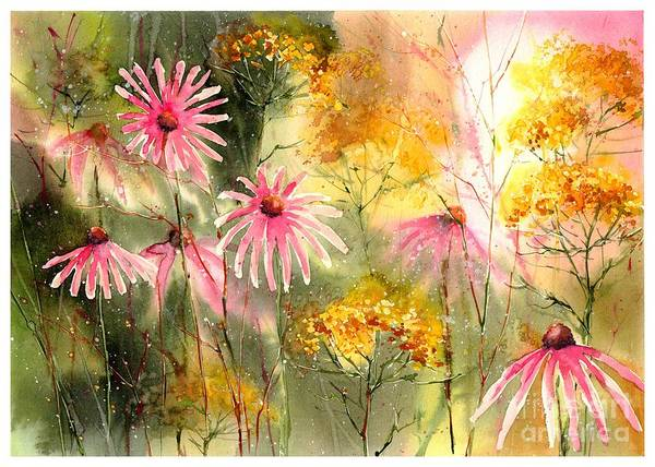 Wall Art - Painting - Pink And Gold by Suzann Sines