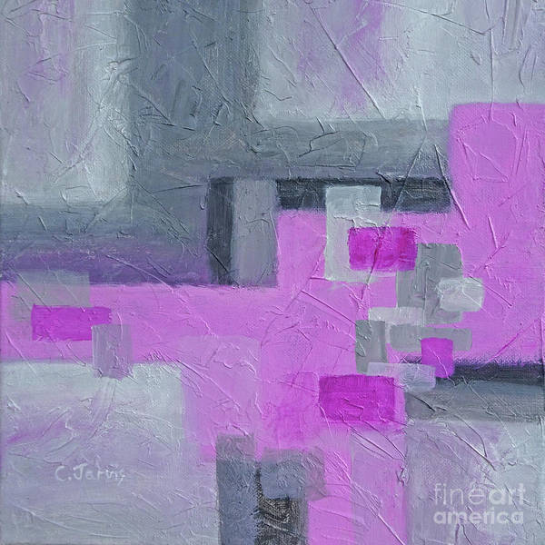 Painting - Pink And Grey Blocks by Carolyn Jarvis
