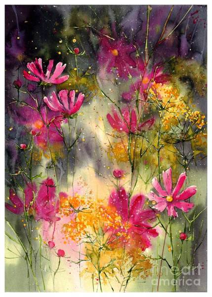 Wind Painting - Pink Ballerinas by Suzann's Art