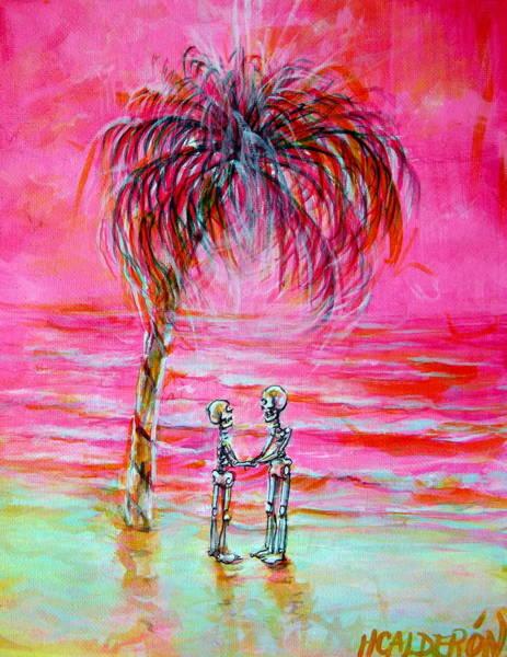 Wall Art - Painting - Pink Beach Dream by Heather Calderon