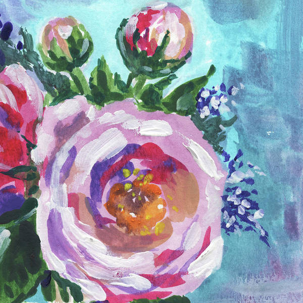 Painting - Pink Beautiful Flowers Floral Impressionism  by Irina Sztukowski