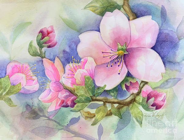 Painting - Pink Blossoms by Hilda Vandergriff