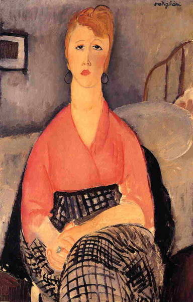 Wall Art - Painting - Pink Blouse - 1919 - Musee Angladon - Avignon - Painting - Oil On Canvas by Modigliani Amedeo