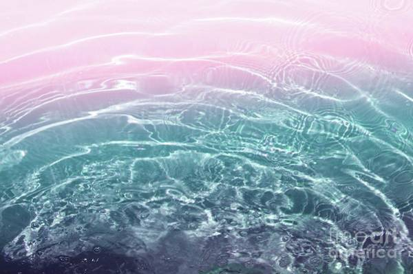 Swimming Pool Mixed Media - Pink Blue Ocean Dream #1 #water #decor #art  by Anitas and Bellas Art