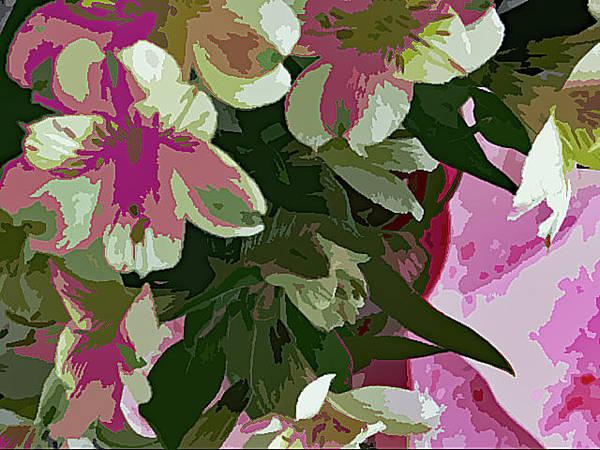 Photograph - Pink Bouquet 1060 by Corinne Carroll