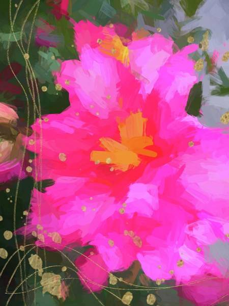 Photograph - Pink Camellia Abstract by Alice Gipson