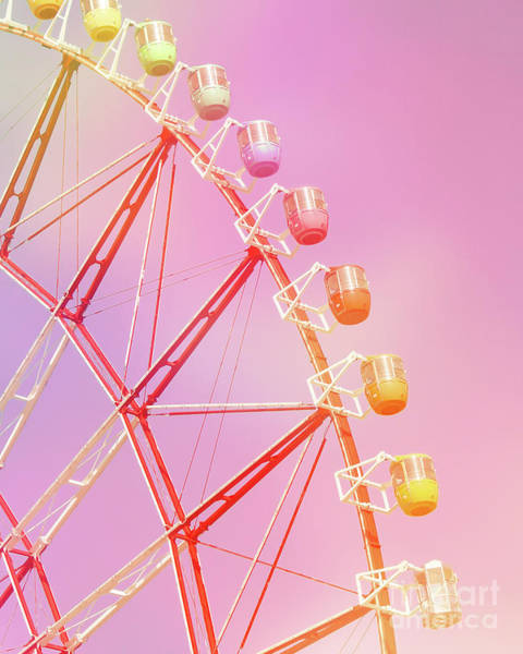 Fairground Photograph - Pink Carnival by Delphimages Photo Creations